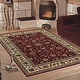 Klassich Orient Teppiche MALAZGIRT Medallion Bidjar_historische motive mit hochwertigen PP Heatset Teppiche_0210 ROT, Maße:120x170 cm