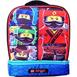 Lego Ninjago 4 Character Dual Compartment Insulated Lunchbox