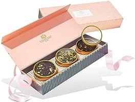 VAHDAM, Assortiment de thés assortis - BLUSH - Coffret-cadeau de 3 thés dans un échantillon de thé 🎁 | THE FAVORITE TEA...