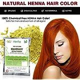 Mahogany Henna Hair Color – 100% Organic and Chemical Free Henna for Hair Color Hair Care - ( 120 Gram = 2 Packets )