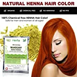 Mahogany Henna Hair Color – 100% Organic and Chemical Free Henna for Hair Color Hair Care - ( 120 Gram = 2 Packets )