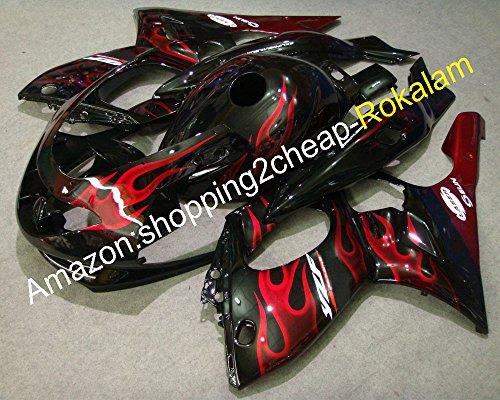 Yzf600r Fixations pour Sportbike Carénage pour Yzf-600r Thundercat 1997-2007 YZF 600 R Rouge Flamme Moto Carénage