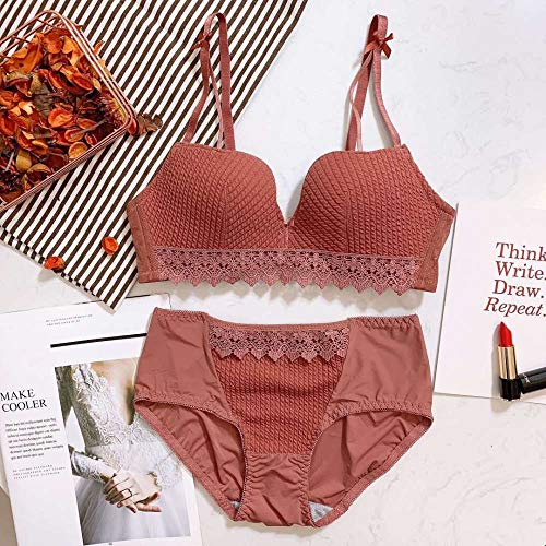 Kit Kostüm Bunny Black - Tianyifeng Die Neue Nahtlose Unterwäsche aus süßer Spitze ist ohne den stählernen Einstellring für den BH in Karamellfarbe 32 / 70AB erhältlich