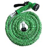 Nicole Knupfer 7,5m/25FT Tuyau de jardin flexible avec 7Arrangement Pulvérisateur Tuyau d'eau extensible Magic Pantalon vert