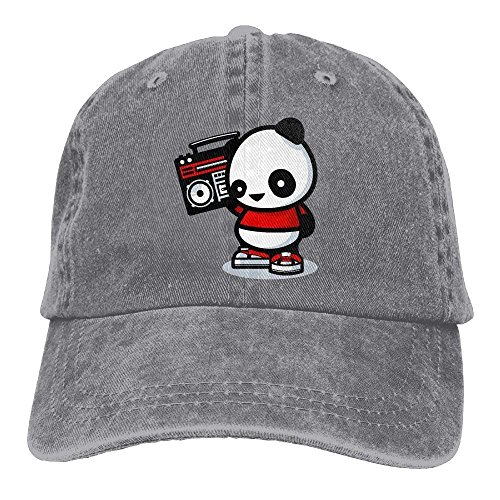 PhqonGoodThing Classic Unisex Panda Listening to The Radio Cowboy Sport Baseball Caps Breathable Fish Hats Radio-cap-baseball-cap