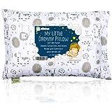Almohada para niños con funda - Almohada para bebés de algodón orgánico suave 13x18 para dormir - Lavable e Respirable - Niño