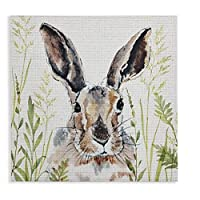 Arthouse In The Meadow Print, Polyester, White, 40 x 40 x 2.5 cm