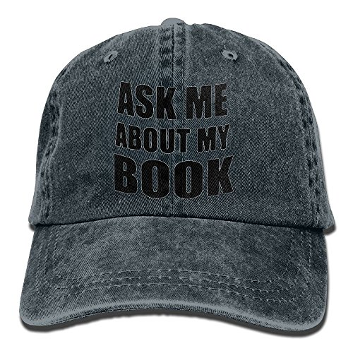 Preisvergleich Produktbild Ask Me About My Book Vintage Jeans Baseball Cap For Men And Women