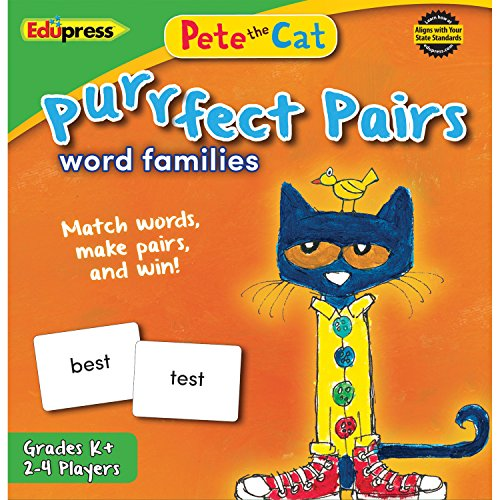 Pete the Cat Purrfect Pairs Game, Word Families by Edupress (Games Family Word)