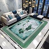 HAPPY-CARPET Moderner Hauptteppich im chinesischen Stil Kunstteppich Wohnzimmerteppichschlafzimmerteppichnachtenteppich, grün/A