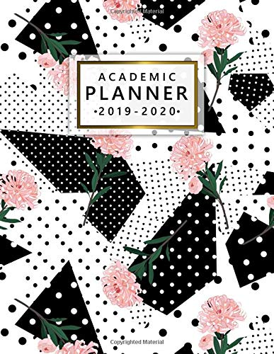Academic Planner 2019-2020: Weekly Monthly Academic Planner Calendar Organizer with At A Glance Vision Boards, Notes, Course Schedule, To-do's, Inspirational Quotes - Nifty Black & White Print (Planer Board-clips)