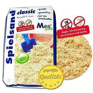25 kg Spielsand TÜV geprüft TOP Qualität Quarzsand mit natürlich abweisender Wirkung auf Hunde & Katzen