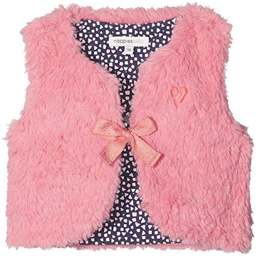 Noppies Baby-Mädchen Weste G Waistcoat Hartford, Rosa (Medium Pink C101), 74 (Kinder Weste Rosa)