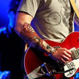 TAFLY 2 Blätter gefälschte große Tattoo Sticker bunte Schädel Transitivität Temporäre Tattoo für Männer & Frauen
