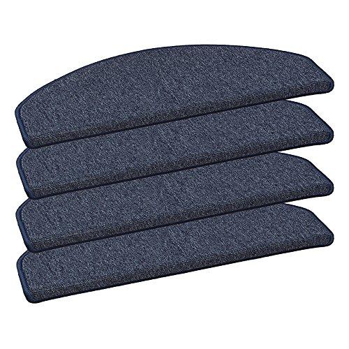 HOMEFACTO:RI 15er Set Stufenmatten Nizza Treppenschoner Schlinge Blau