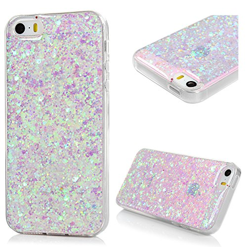 cover-iphone-5s-silicone-iphone-se-custodia-morbido-tpu-con-glitter-bling-strass-di-colore-viola-chi