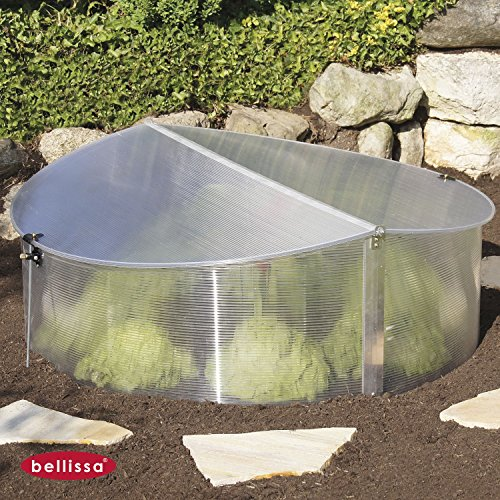 bellissa Frühbeet rund Mini Gewächshaus Treibhaus Frühbeetkasten Ø112x40/30cm