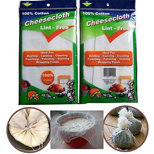 100% Naturbaumwolle Käsetuch Wiederverwendbar Siebtuch Filtertücher zur Käseherstellung Passiertücher Durchseihtücher Waschbar (Klasse 60-1,5 Yards, 13,5 Sq Feet) (Machen Mumie Kostüme)