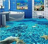 Malilove 3d-PVC Bodenbeläge benutzerdefinierte Wasserdicht wallpaper Klares Wasser Seestern Muschel 3d Badezimmer Bodenbeläge Bild Foto wallpaper für Wände 3 d