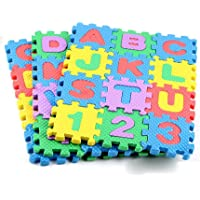 JIADA Mini 36Pcs Alphabet Numeral Foam Mat Education Toys Developmental Intelligence Toy for Kids Puzzle Educational Learning Toy