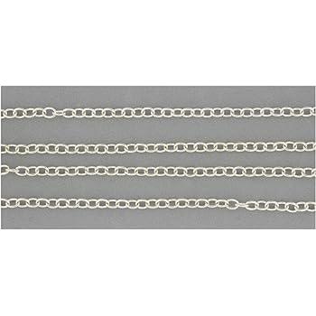 Kette Meterware Schmuck silber versilbert Gliederkette 1m Armband 3x2,5mm