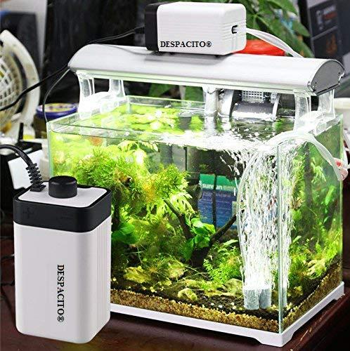 DESPACITO® CT-202 Super Noiseless Air Pump for Aquarium with 2 Air Outlets That Has Adjustable Air Flow Facility