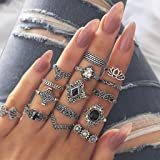 Maxpex Vintage Ladies Ring Set Fashion Casual Retro Flower Crown Hollow Out Joint Knuckle Nail Ring Women Jewelry Gifts for B