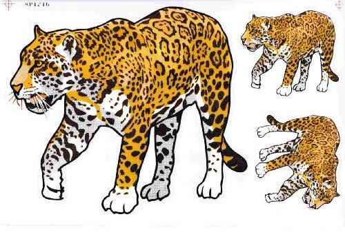 Leopard Sticker Aufkleber Folie 1 Blatt 270 mm x 180 mm wetterfest (Leopard-folie)