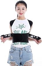 SUPVOX Posture Corrector Adjustable Flexible Back Support Belt Vest Hunchback correction Brace Band Size M (Black)