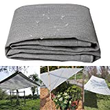 Shading net Schattentuch-Sonnenschutznetz Schattennetz-GewäChshaus-Schatten-Netz Wasserdicht Und Breathable4 * 5m, 4 * 6m (Grau) LZPQ