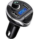 Criacr FM Transmitter, Bluetooth FM Transmitter, KFZ Auto Radio Adapter Freisprecheinrichtung Car Kit Mit Dual USB-Port, Unterstützung, um U-Disk-Speicher bis zu 32G zu Lessen