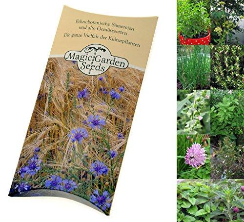 Samen-Set: 'Mehrjährige Gartenkräuter', Saatgut für 5 winterharte Würzpflanzen als Samen zur Anzucht in schöner Geschenkverpackung