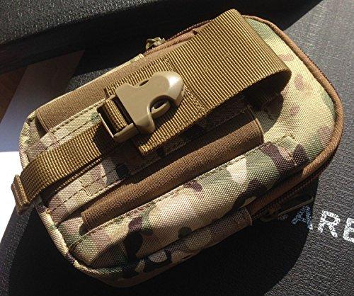 Agli appassionati ZLL/militare tattico tasca borsa Cinture Borse pacchetto cintura Samsung Custodia per pacchetto, mud color nero