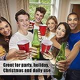 100x Beer Pong Becher Partybecher Set Plastikbecher Rot und Blau 473ml Bier Pong Cups mit Bällen, 16oZ für Getränke Party Camping Cocktail Bier Neues Jahr Weihnachten Geburtstag Festivals Hochzeit - 4
