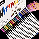 Emooqi Acrylstifte Marker Stifte, Wasserfeste Stifte 20 Farben Marker Paint Pen Schnelltrocknend Premium Paint Marker Set Permanent Art Filzstift Acrylstifte Painter für DIY Fotoalbum, Stein, Metall