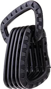 Pacchetto5 escursioni ZENDY PVC plastica primavera-lock D-forma di bloccaggio in PVC chiave moschettone portachiavi gancio supporto per la casa caravan campeggio viaggi e portachiavi la pesca