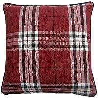 Edinburgh Einzeln Rot Tartan Schottenstoff Wendbare Baumwolldecke Decke Set Bettwäsche