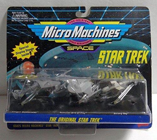 Micro Machines Original Star Trek Botany Bay, Romulan Bird of Prey, Klingon Battlecruiser by Galoob MicroMachines