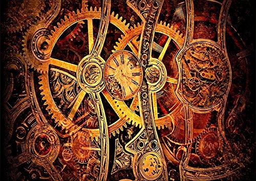 Reloj de Steampunk Reloj mecánico esquelético de la pared del arte