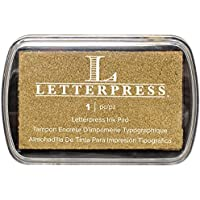 We R Memory Keepers Letterpress Ink Pad-Gold