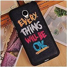 Prevoa ® 丨Meizu M2 Mini Funda - Colorful Silicona Protictive Carcasa Funda Case para Meizu M2 Mini 5,0 Pantalla Smartphone - 9