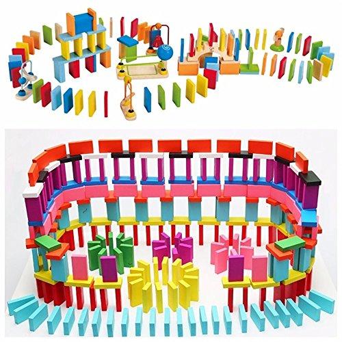 Pingenaneer Domino 120 Teilig 10 Farbe Domino Bausteine Games Lernspielzeug für Kinder