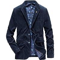 UJDKCF Men's Corduroy Blazer Male Suit Autumn 4XL Slim Fat Casual Coat