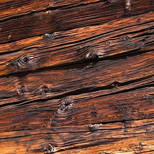 Apple iPhone 5 Housse Outdoor Étui militaire Coque Planches de bois effritées Look bois Sol en bois Étui en cuir gris