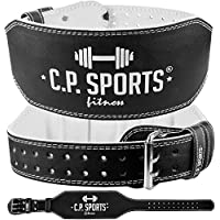 C.P.Sports Gewichthebergürtel Leder extra breit T4-1 Ideal für Bodybuilding, Fitness u. Krafttraining- Power-Belt