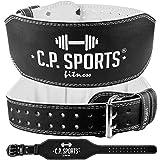 Gewichthebergürtel Leder extra breit T4-1 Gr.M - C.P.Sports - Ideal für Bodybuilding, Fitness u. Krafttraining- Power-Belt