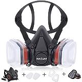 Respirator NASUM dammmask färgmask, halvmask för målning, damm, partiklar, maskinpolering, svetsning och annat arbetsskydd Sv