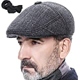 c297b079fe Mesky 2 PZ Basco Scozzese Uomo Cappello Berretti Lana e Velluto Vintage cap  Morbido Invernale Tradizionale
