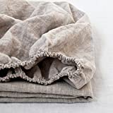 Simple Opulence Lenzuolo con angoli in puro lino 100%, Linen, King