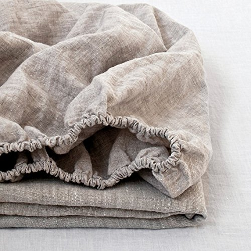 100% Pure lino sábana bajera 1pieza Para solo doble King size Simple opulencia, Linen, Doublé